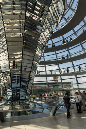 The Reichstag in Berlin with the German Bundestag and the famous glass dome
