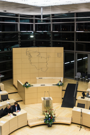 kiel fjord: the celebrations in 125 years Landeshaus - 10 years of new plenary hall of the Schleswig-Holstein Landtag Editorial