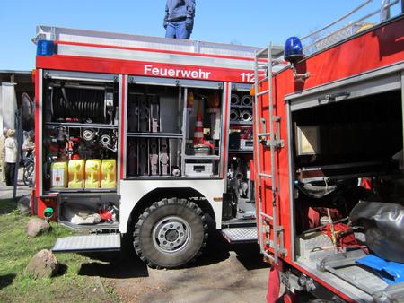 motor ardiendo: un coche de bomberos
