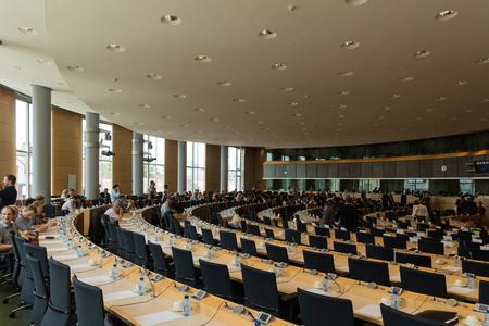 Inside the European Parliament - Brussels, Belgium 報道画像