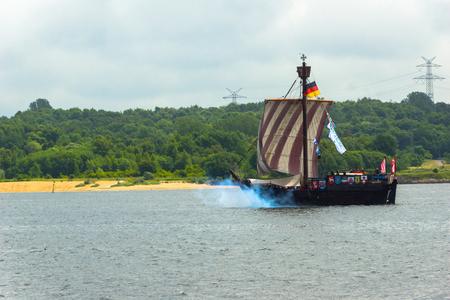 woche: A Regatta escort tour on a navy ship on the occasion of a sailing regatta for the Kieler Woche 2013 Editorial