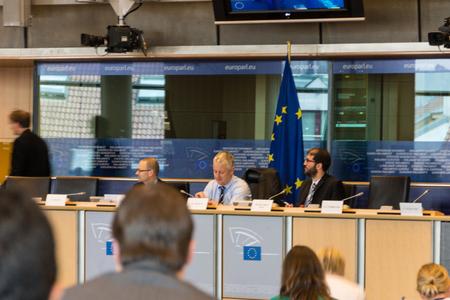comit� d entreprise: A l'int�rieur du Parlement europ�en - Bruxelles, Belgique �ditoriale
