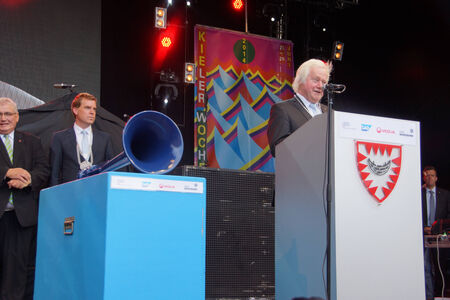 woche: Grand Opening Ceremony of the Kieler Woche 2014  with the Prime Minister of Schleswig-Holstein Torsten Albig and President Joachim Gauck