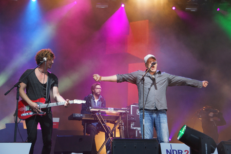 woche: The musicans Wingefelder are giving a concert on the NDR Stage during the Kieler Woche 2014
