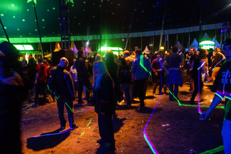 musik: Kiel, Germany  24nd June, 2014  The Laser Light Show in the Kieler Woche Musik Tent