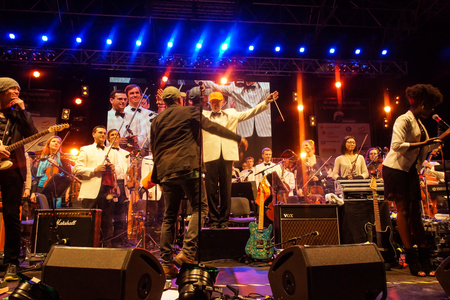 mann: Kiel, Germany  27nd June, 2014  Rock meets Classic at the Kieler Woche 2014 with Andr�, Emily Intsiful from  The Voice of Germany  and Chris Thompson fromer Voice of Manfred Mann