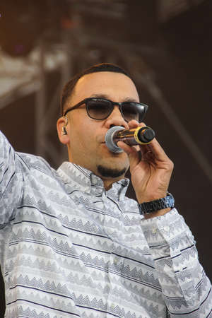 woche: Kiel, Germany  29nd June, 2014  The artist Larsito, formaly Member of Culcha Candela, is performing on the NDR 2 Stage during the Kieler Woche 2014  Editorial