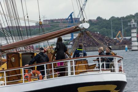 A Regatta escort tour on a navy ship on the occasion of a sailing regatta for the Kieler Woche 2013 Editorial
