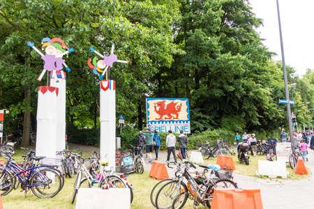 woche: Kiel, Germany - June 19th 2016: Impressions from the Spiellinie on the Krusenkoppel of the Kieler Woche 2016 Editorial