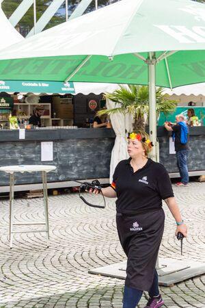 woche: Kiel, Germany - June 21nd 2016: Impressions of the fourth Day of the Kieler Woche 2016