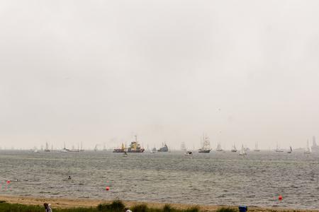 kiel: Kiel, Germany - June 25th 2016: Impressions of the Tall Ship Parade during the Kiel Week 2016