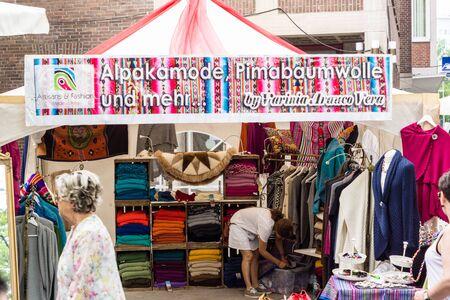 woche: Kiel, Germany - June 24th 2016: Impressions from the International Market of the Kieler Woche 2016