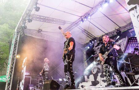 german ocean: Kiel, Germany - June 24th 2016: The Band United Four plays during the Kieler Week 2016 Stock Photo