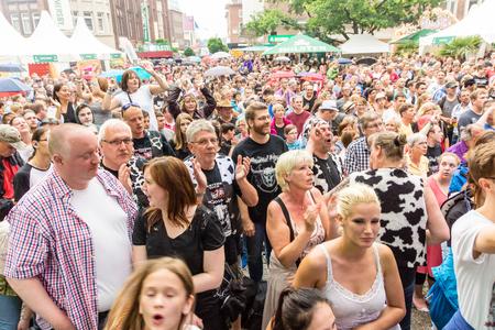 kiel: Kiel, Germany - June 24th 2016: The Band United Four plays during the Kieler Week 2016 Editorial