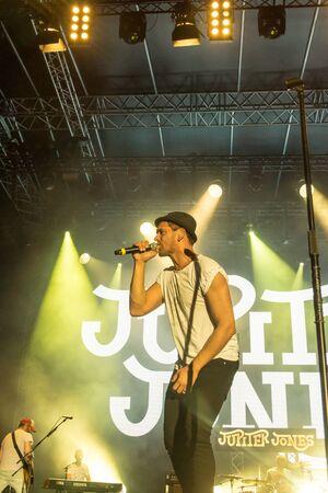 german ocean: Kiel, Germany - June 24th 2016: The Band Jupiter Jones plays during the Kieler Week 2016