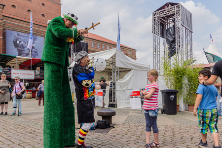 kiel: Kiel, Germany - June 24th 2016: Impressions from the International Market of the Kieler Woche 2016