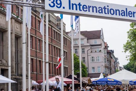 german ocean: Kiel, Germany - June 24th 2016: Impressions from the International Market of the Kieler Woche 2016
