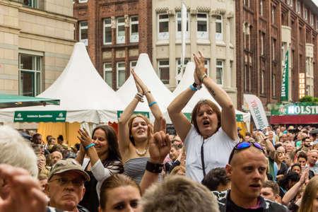 kiel: Kiel, Germany - June 24th 2016: The Band United Four plays during the Kieler Week 2016 Stock Photo