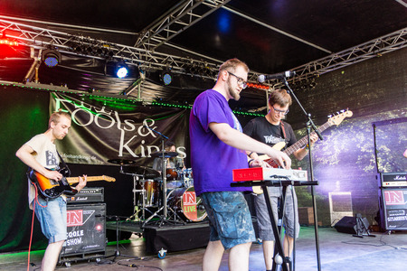 woche: Kiel, Germany - June 23rd 2016: The Band Fools & Kings performs on the Junge Bühne during the sixth Day of the Kieler Woche 2016