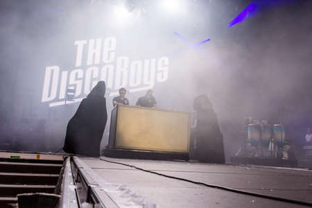 woche: Kiel, Germany - June 23rd 2016: The Disco Boys on the NDR Stage during the sixth Day of the Kieler Woche 2016