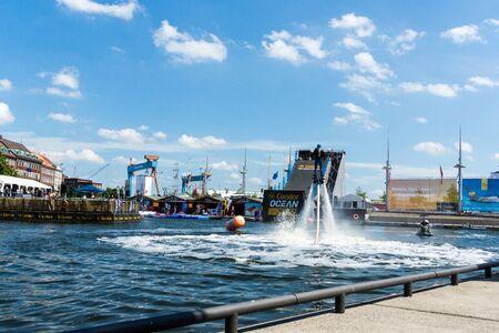 german ocean: Kiel, Germany - June 23rd 2016: Fun Water Sport during  the sixth Day of the Kieler Woche 2016  Stock Photo