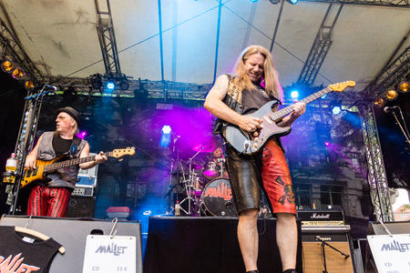 woche: Kiel, Germany - June 23rd 2016: The Band Mallet performs during the sixth Day of the Kieler Woche 2016
