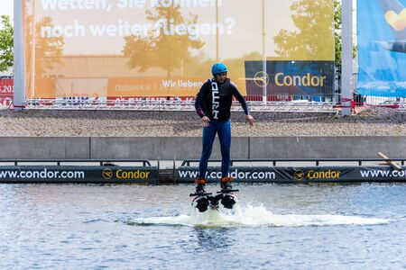 Kiel, Germany - June 23rd 2016: Fun Water Sport during  the sixth Day of the Kieler Woche 2016  Stock Photo