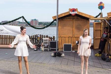 german ocean: Kiel, Germany - June 23rd 2016:  Impressions of the sixth Day of the Kieler Woche 2016