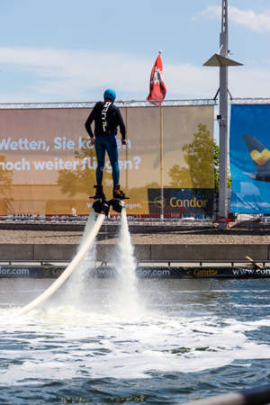 woche: Kiel, Germany - June 23rd 2016: Fun Water Sport during  the sixth Day of the Kieler Woche 2016  Stock Photo