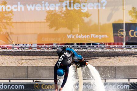 kiel: Kiel, Germany - June 23rd 2016: Fun Water Sport during  the sixth Day of the Kieler Woche 2016  Stock Photo