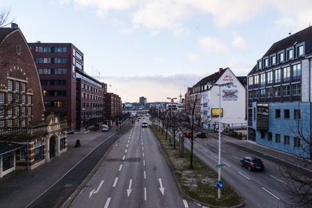 Kiel, Germany. 5th January, 2017. Kiel, Capital of Schleswig-Holstein, North Germany, after storm front Axel and a storm tide has passed away