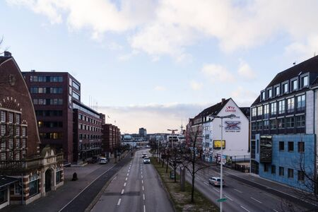 kiel: Kiel, Germany. 5th January, 2017. Kiel, Capital of Schleswig-Holstein, North Germany, after storm front Axel and a storm tide has passed away
