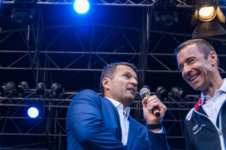 first day: Kiel, Germany - June 17nd 2017: Impressions of the first Day of the Kieler Woche 2017 with the Grand Opening by famous German TV Host Kai Pflaume
