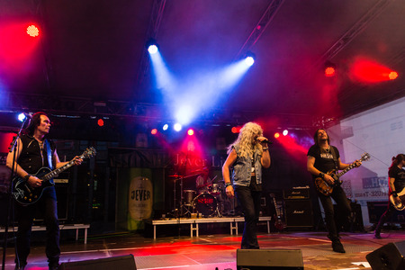 Kiel, Germany - June 18th 2017: The ACDC Tribute Band Bon Scott is performing during the Kieler Woche 2017 Editorial