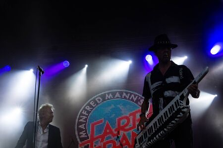 Kiel, Germany - June 18th 2017: The Band Manfred Manns Earth Band is performing on the Hoern stage during the Kieler Woche 2017