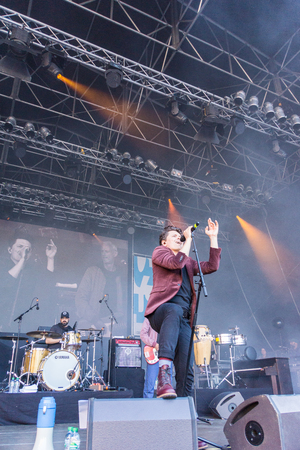 kelly: Kiel, Germany - June 17th 2017: Michael Patrick Kelly on the Rathaus Stage on the first Day of the Kieler Woche 2017 Editorial