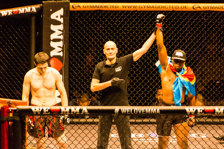 Hamburg, Germany - Nov 18th, 2017: The fight between Said-Magomed Yanderbaev and Ruddy Kisangou during We Love MMA 34