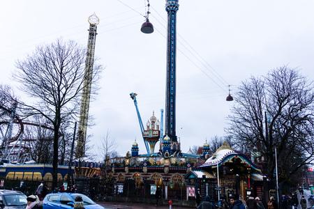 Tivoli Amusement Park in Copenhagen, Denmark