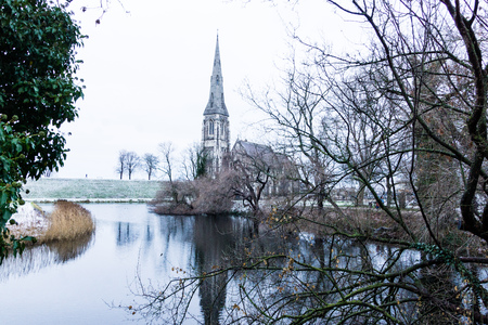 The  St. Alban's Church in Copenhagen, Denmark