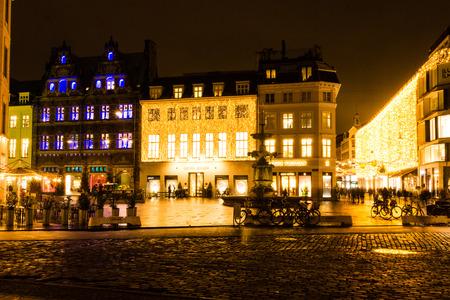 The Strøget in Copenhagen, Denmark Éditoriale