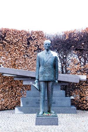 Danish King Frederik IX Statue in Copenhagen, Denmark