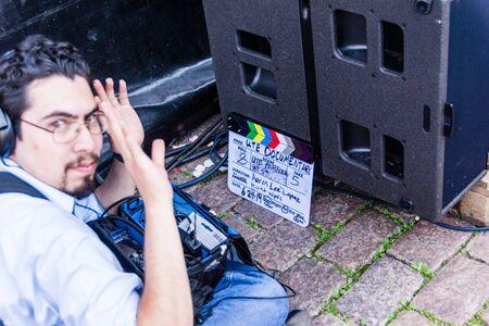 Kiel, Germany - June 24th 2019: Filming the Netflix Documentary UTE - Music makes me fly during the 125th Kiel Week 2019