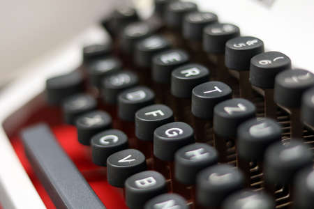 close-up  detail from a vintage typewriter