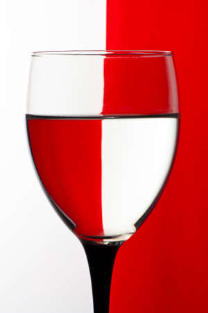 Wine glass red and white check