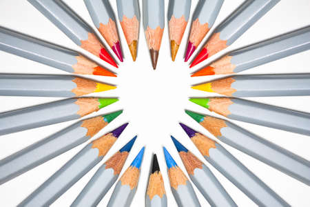 A heart shape formed in the tip of pencils Stock Photo - 8569243