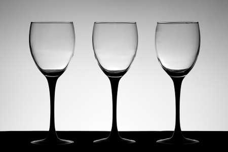 Elegant wine glasses
