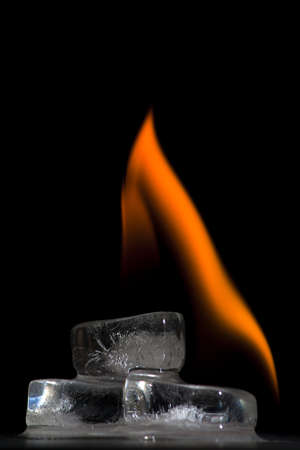 Flaming Ice cubes Stock Photo - 8689936