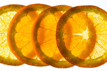 thinly: Thinly sliced back lit orange