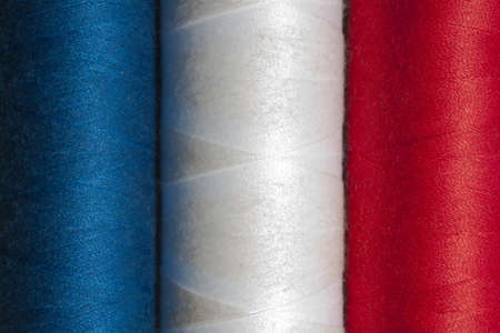 French flag in cotton reels Stock Photo