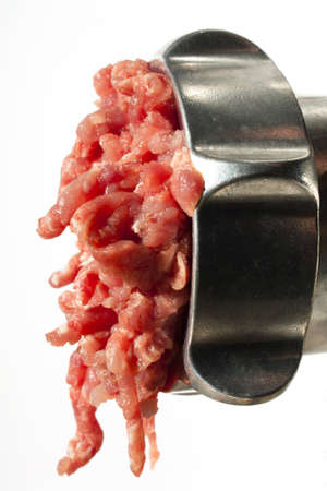 mincing: Mincing pork (Ground Pork) Stock Photo